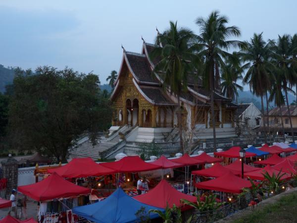 Nord Laos - Luang Prabang : Le marché de nuit