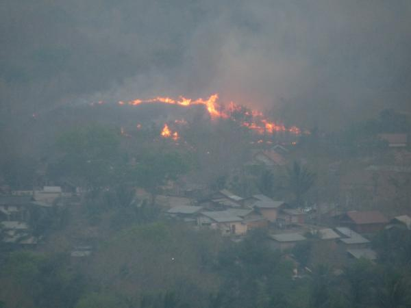 Nord Laos - Luang Prabang : Incendie volontaire