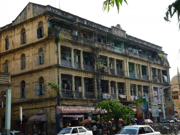 Birmanie - Rangoon : Downtown